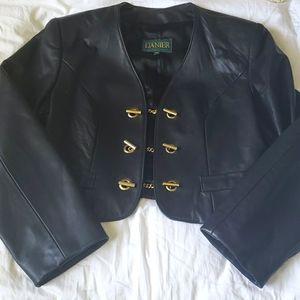 Vintage Danier Cropped Leather Jacket, GHW, Size M